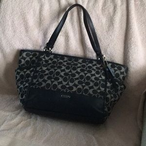 Navy blue Coach Tote